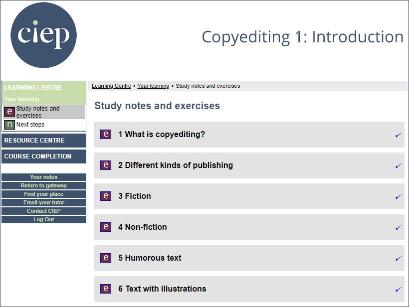 Copy Editing 1 Introduction