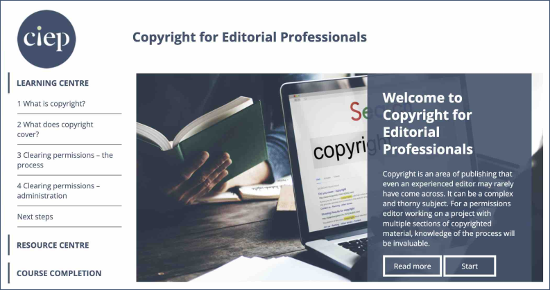 Copyright for Editorial Professionals course page