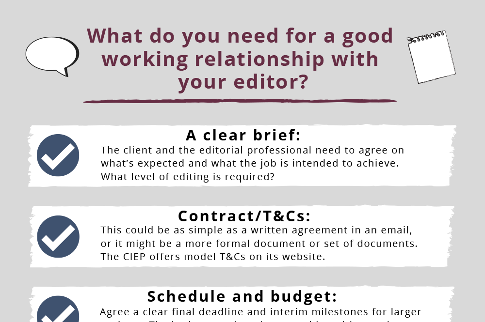 CIEP factsheet: Good editorial relationships