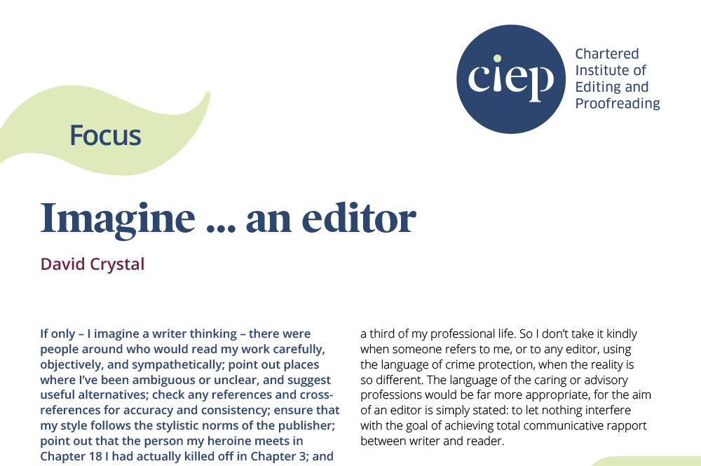 CIEP focus paper: Imagine an editor