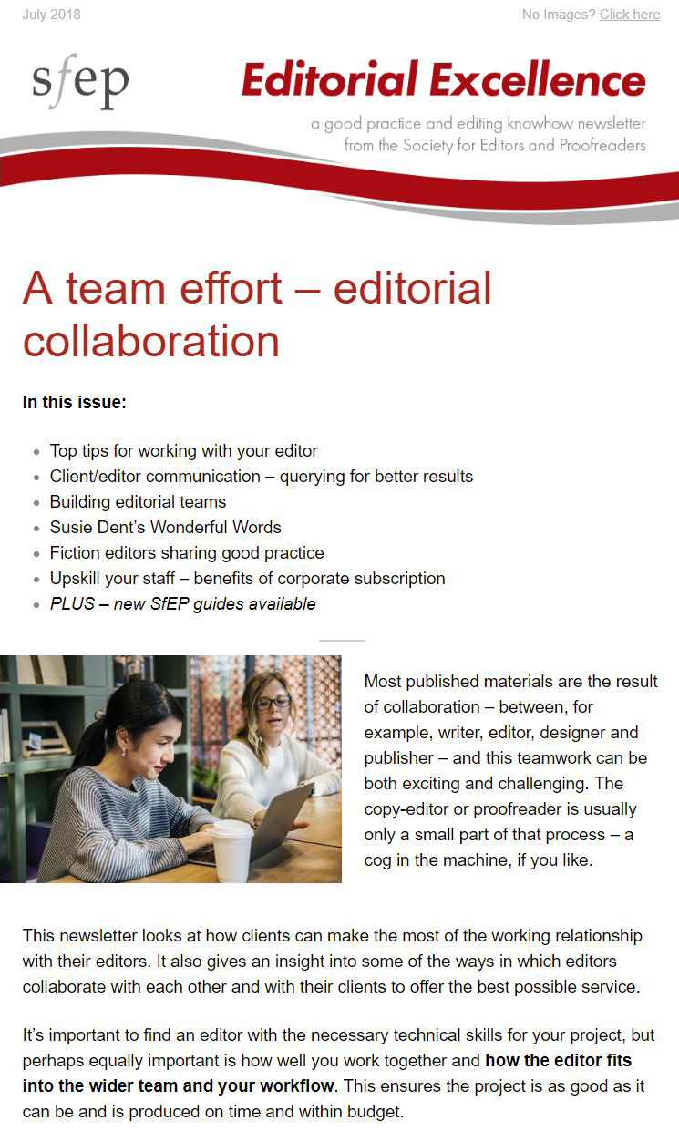 Editorial Excellence e-newsletter
