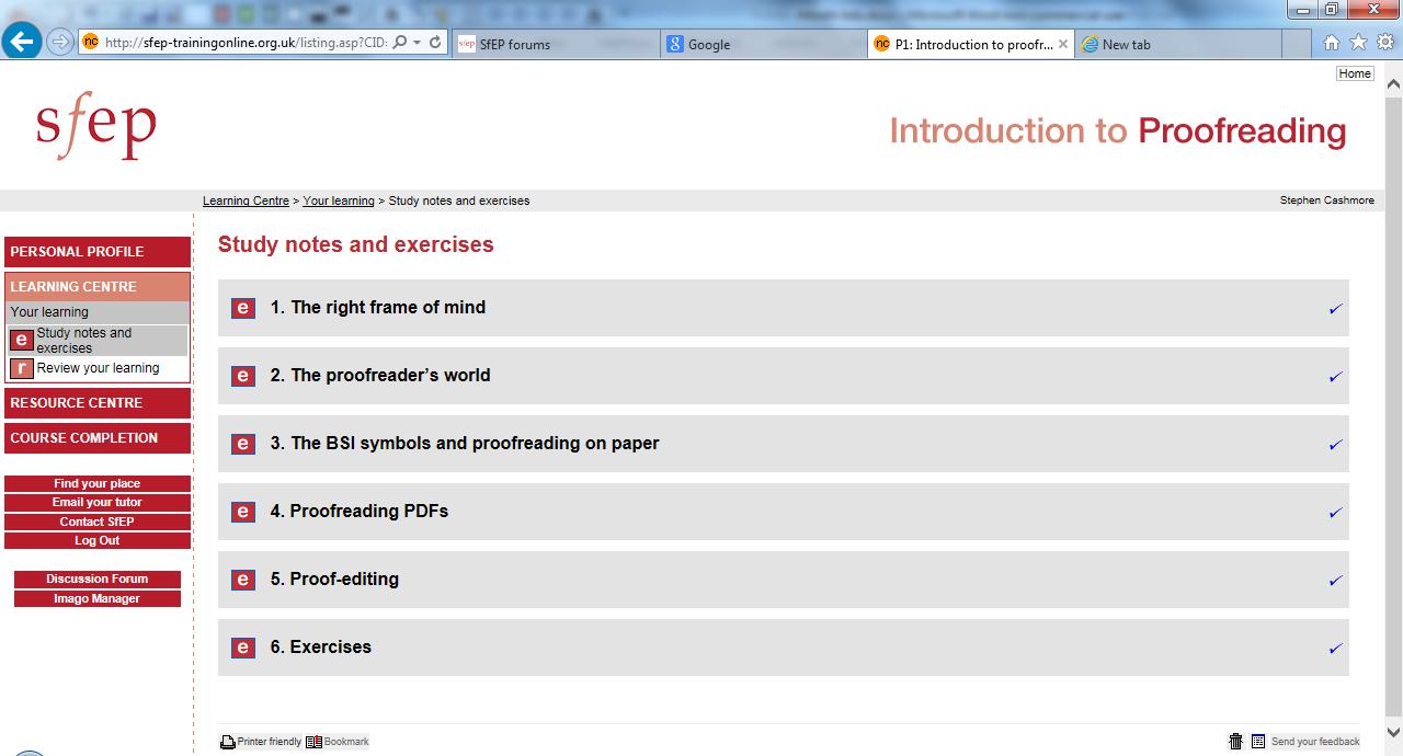 Online essay proofreading training