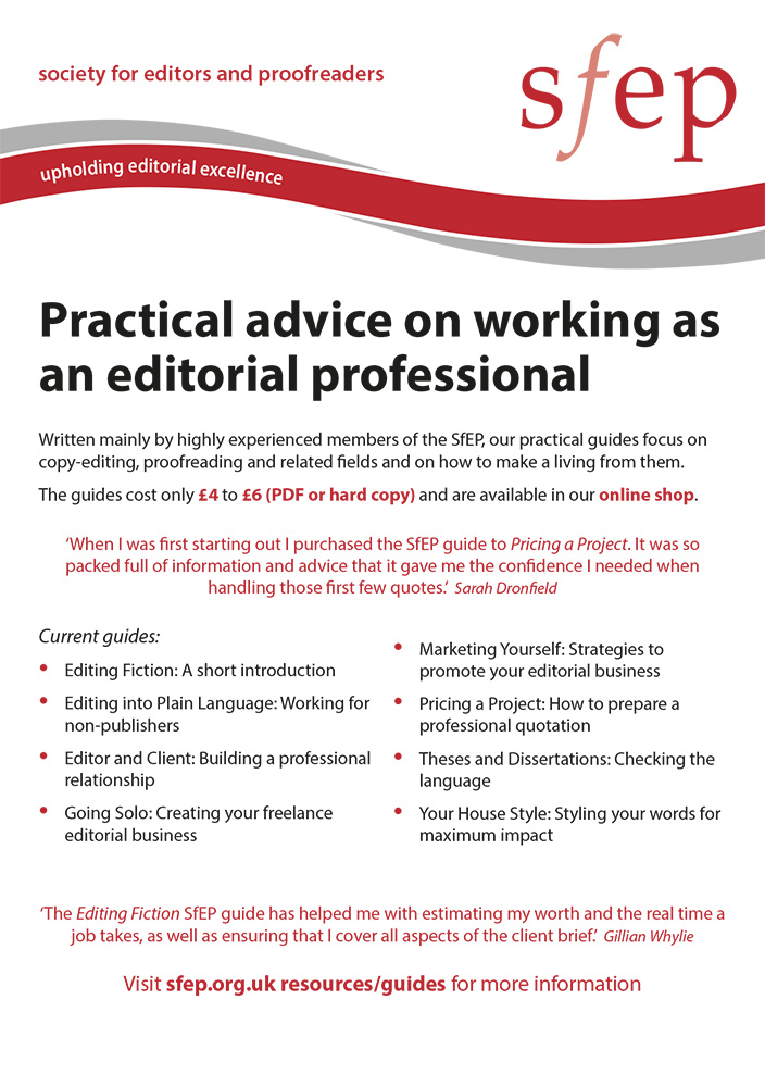 Practical advice SfEP guides