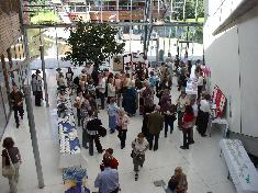 Delegates meet for coffee and chat in the Atrium
