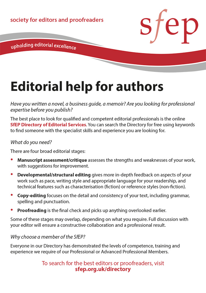 Editorial help for authors