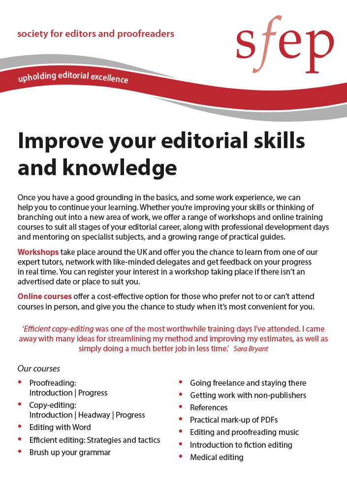 Improve your editorial skills and knowledge