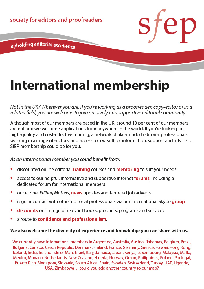 An international community for editorial professionals