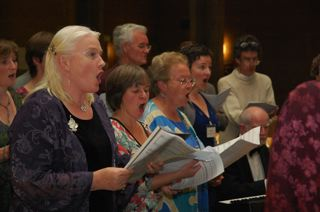SfEP Linnets singing at 2011 conference in Oxford