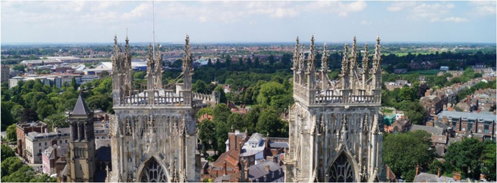 The tower of York Minster